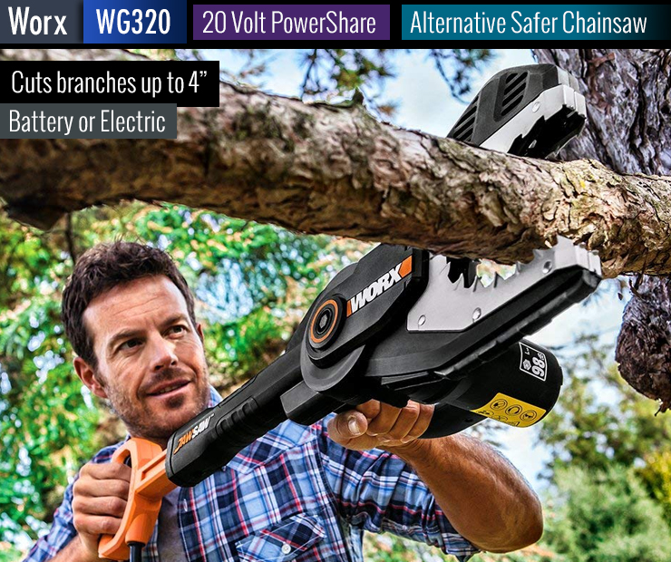 Safer alternative to chainsaws.