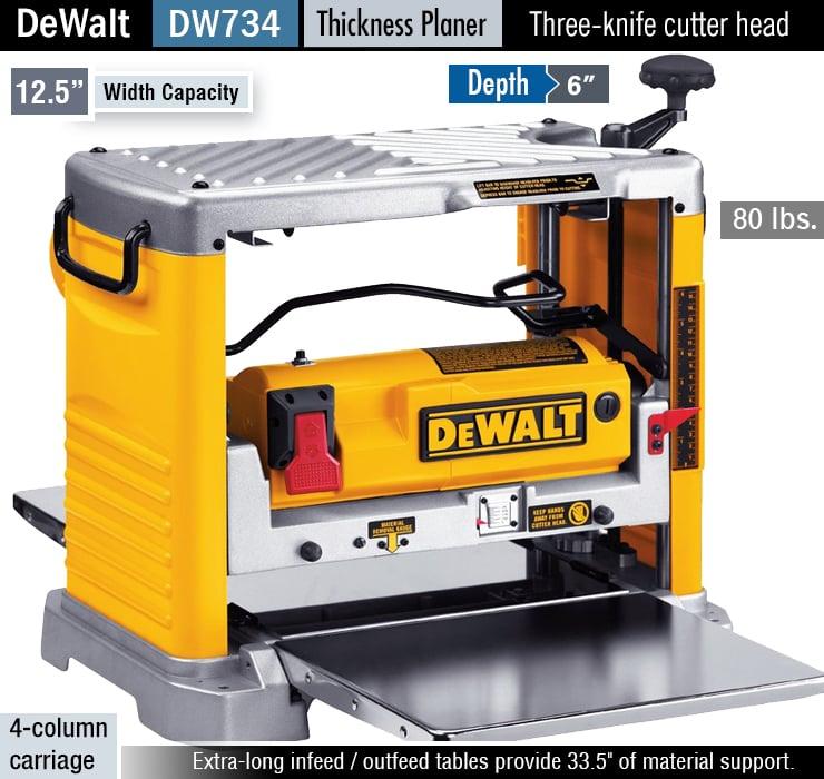 DEWALT DW734 vs DEWALT DW735, thickness planer